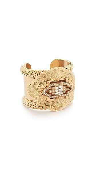 Elizabeth Cole Statement Cuff Bracelet - Golden Crystal