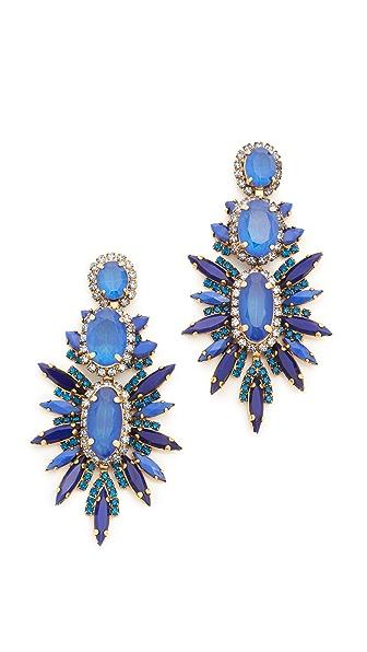 Elizabeth Cole Carmella Earrings - Blueberry Blue