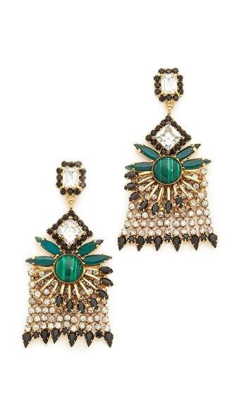 Elizabeth Cole Genevieve Earrings - Golden Crystal
