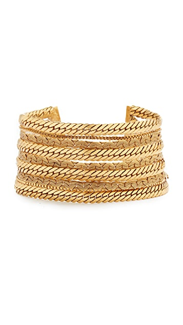 Elizabeth Cole Golden Choker Necklace