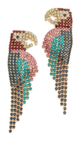 Elizabeth Cole Macaw Earrings