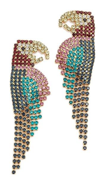 Elizabeth Cole Macaw Earrings