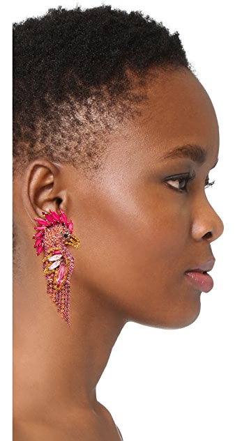 Elizabeth Cole Fuchsia Earrings