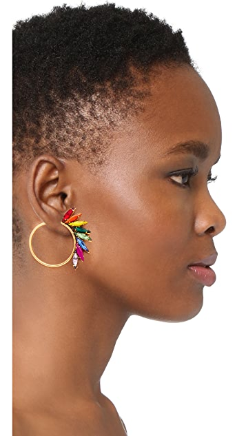Elizabeth Cole Jordi Hoop Earrings