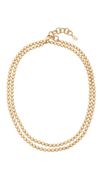 Elizabeth Cole Sheila Wrap Choker Necklace - Golden Glow