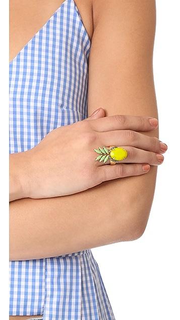 Elizabeth Cole Pineapple Ring