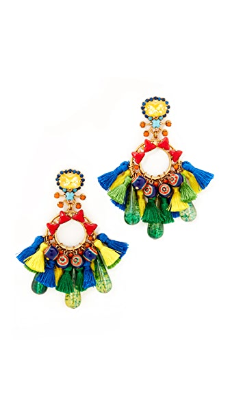 Elizabeth Cole Fan Earrings - Multi