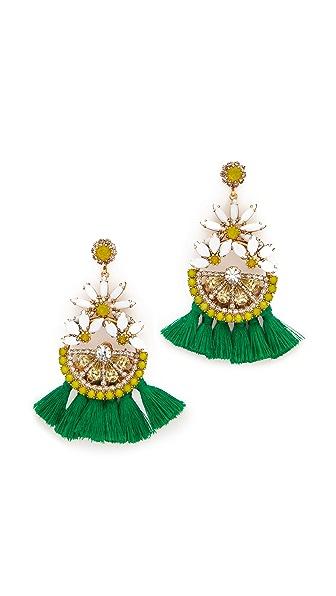 Elizabeth Cole Lemon Tassel Earrings