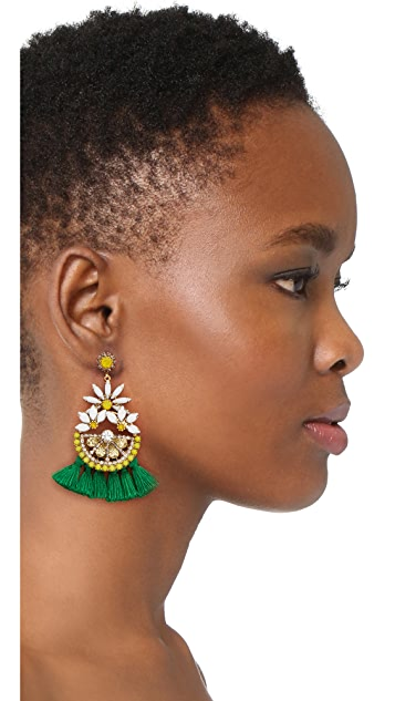 Elizabeth Cole Lemon Tassel Earrings