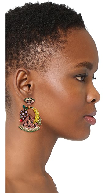 Elizabeth Cole Fruit Salad Earrings