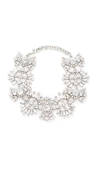 Elizabeth Cole Paxon Crystal Choker Necklace In Crystal