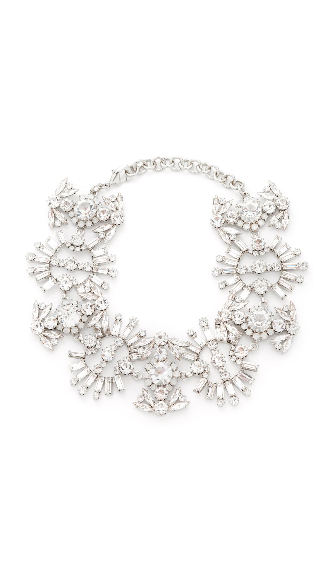 Elizabeth Cole Paxon Crystal Choker Necklace