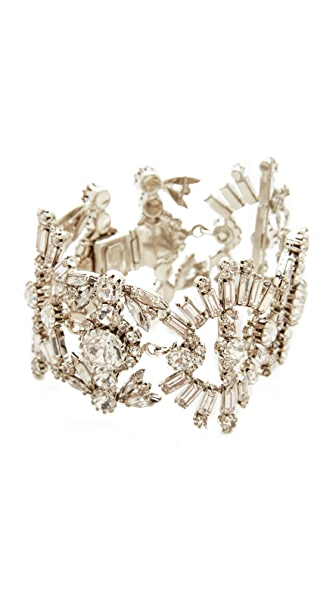 Elizabeth Cole Misty Bracelet In Crystal