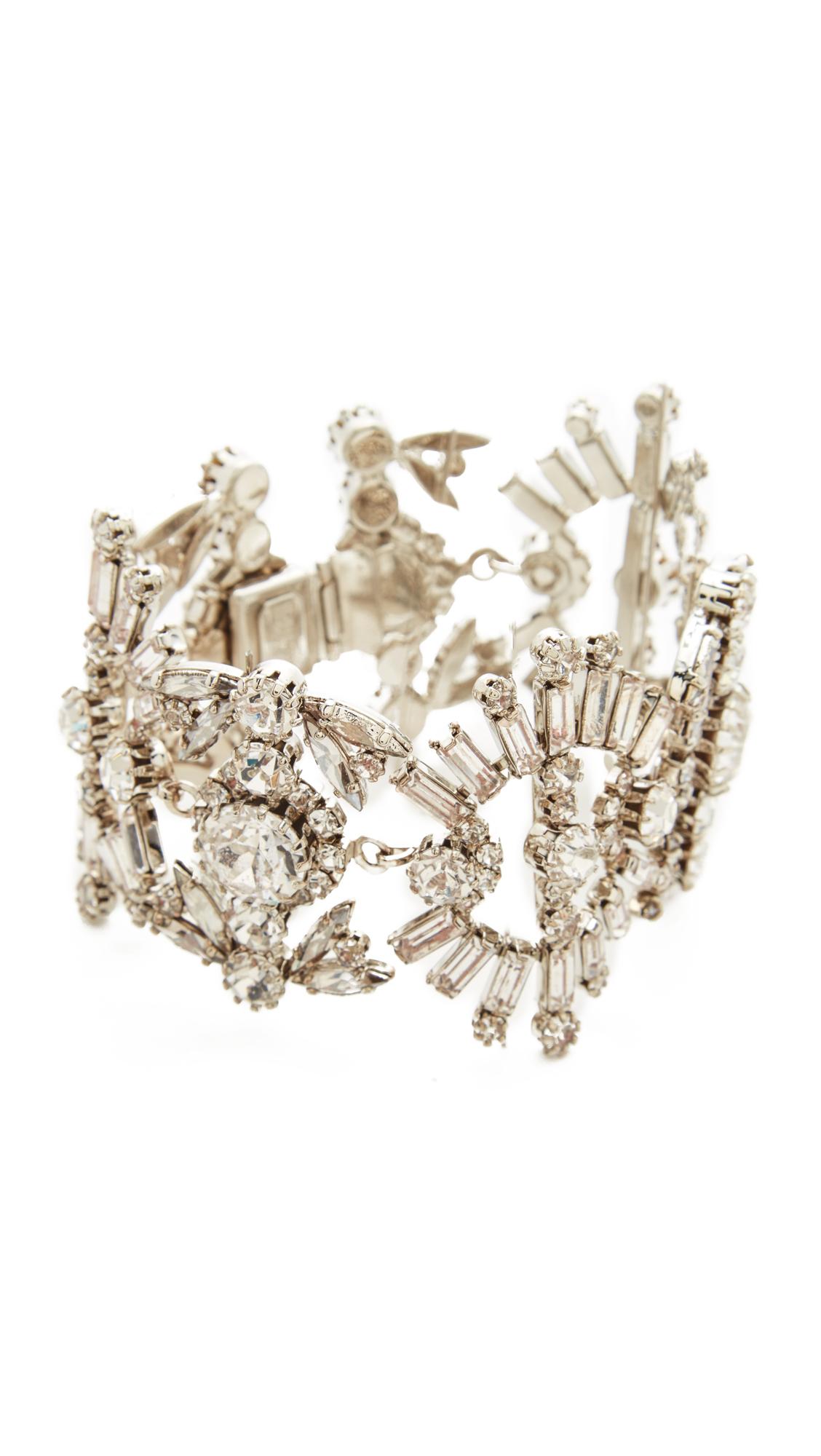 Elizabeth Cole Misty Bracelet - Crystal