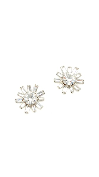 Elizabeth Cole Regina Earrings - Nude