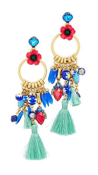 Elizabeth Cole Aussie Earrings - Poppy