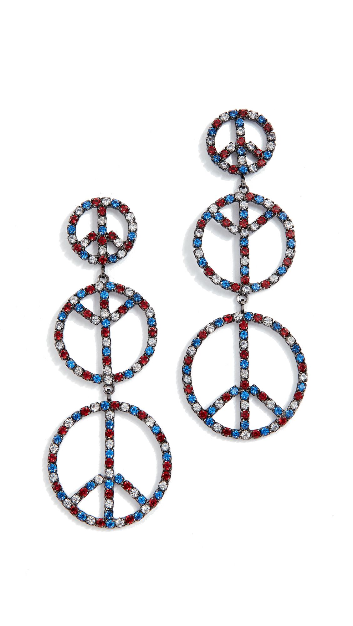 Elizabeth Cole Peace Earrings