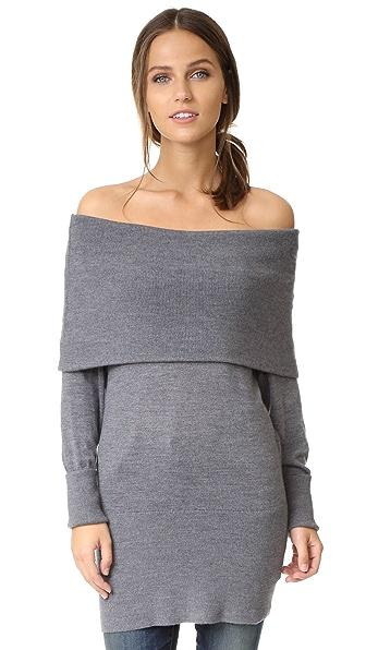 Ella Moss Jodi Cowl Sweater - Heather Steel