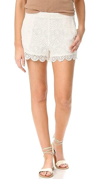 Ella Moss Medallion Crochet Shorts