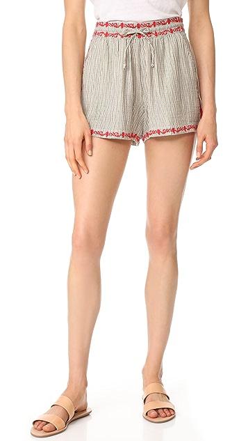 Ella Moss Marini Embroidered Shorts