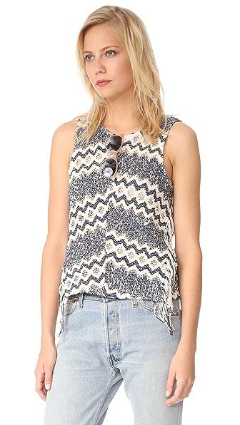 Ella Moss Alexandria Fringe Knit Top at Shopbop