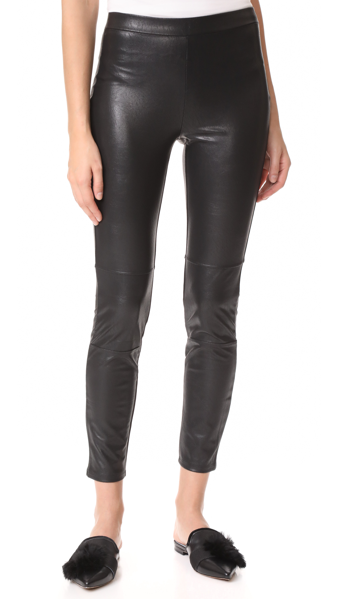 Ella Moss Faux Leather Leggings - Black