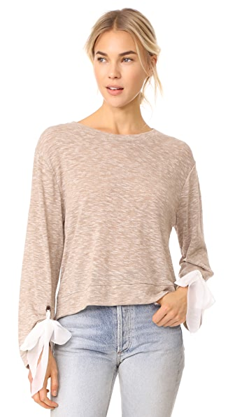 Ella Moss Nicolette Top In Heather Camel