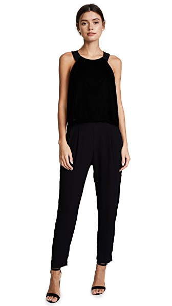 74d58de7ab1 Ella Moss Duchess Velvet Jumpsuit In Black