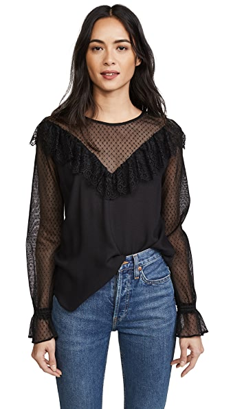 Ella Moss Nikki Top In Black