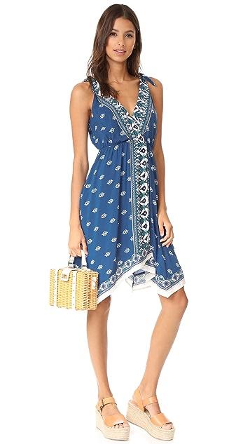 Ella Moss Tie Strap Midi Dress