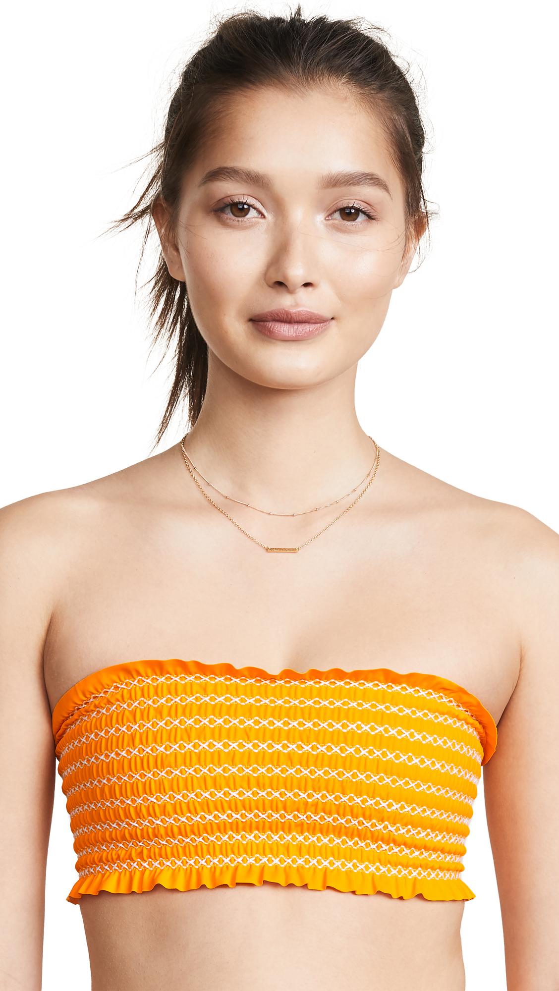 ELLEJAY Chelsea Bikini Top in Orange