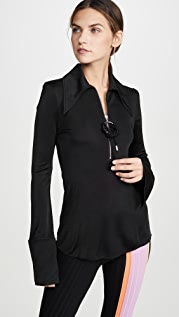 Ellery McShine Zip Front Blouse