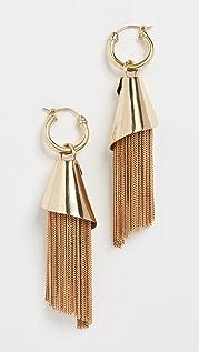 Ellery Amplifier Spiral Chain Earrings