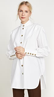 Ellery Puzzo V Paneled Neck Shirt