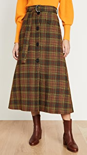 Ellery West Side Padded A-Line Skirt