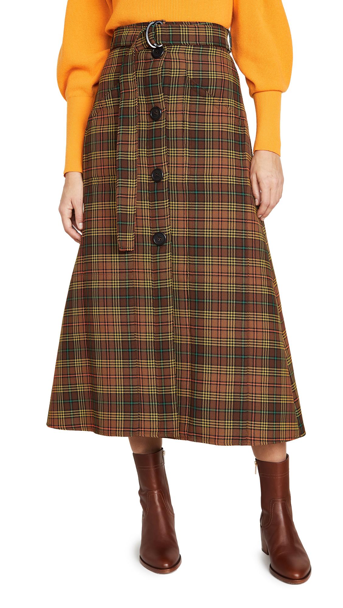 Buy Ellery online - photo of Ellery West Side Padded A-Line Skirt