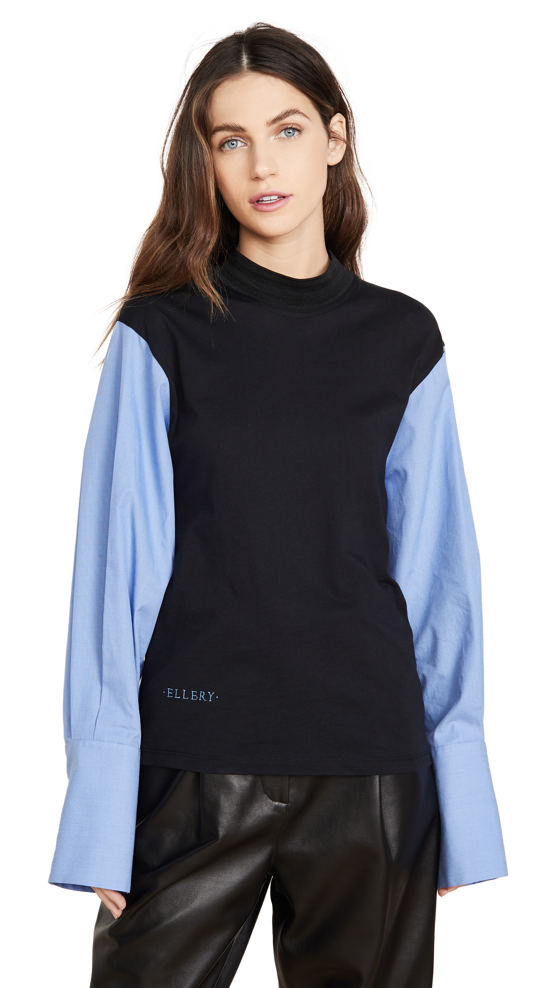 Ellery Stoic Jersey Top with Shirt Sleeves - 40% Off Sale
