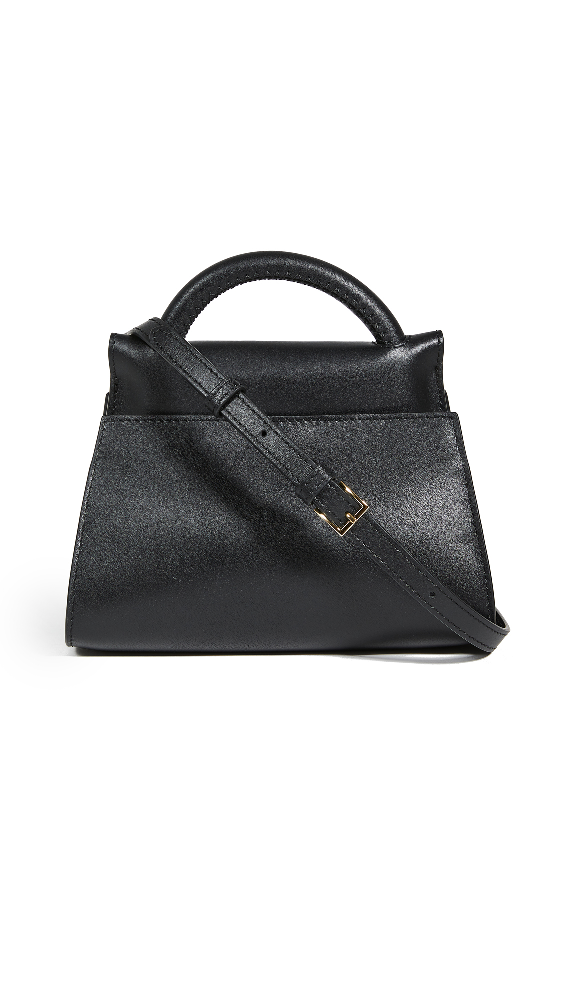 Elleme Small Papillon Leather Bag In Black