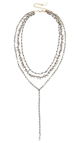 Ela Rae Three Layer Lariat Necklace