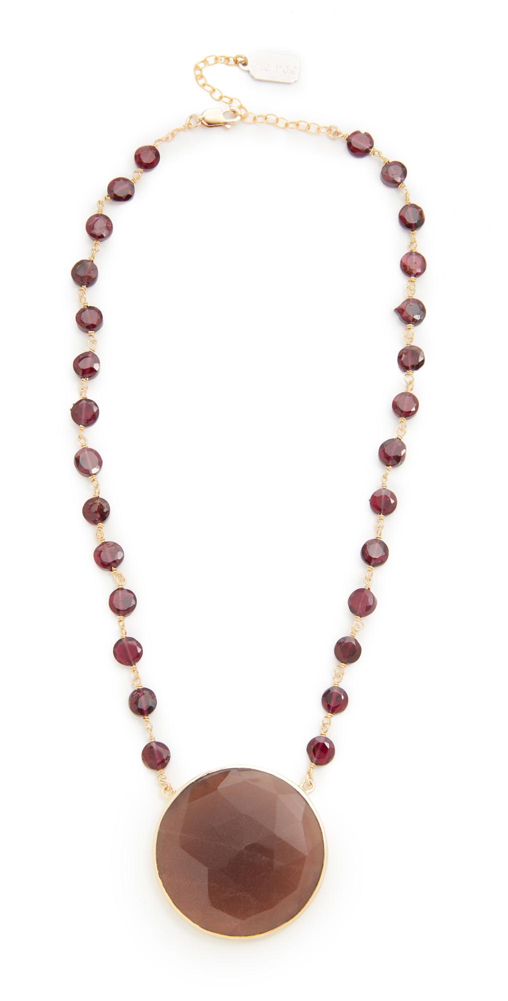 Moonstone Pendant Necklace Ela Rae