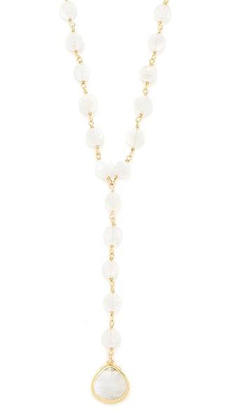 Ela Rae Yaeli Coin Necklace - Moonstone