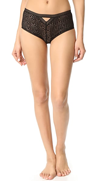 Else Lingerie Pebble Boy Shorts - Black