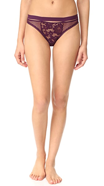 Else Lingerie Petunia Sporty Thong - Purple Orchid