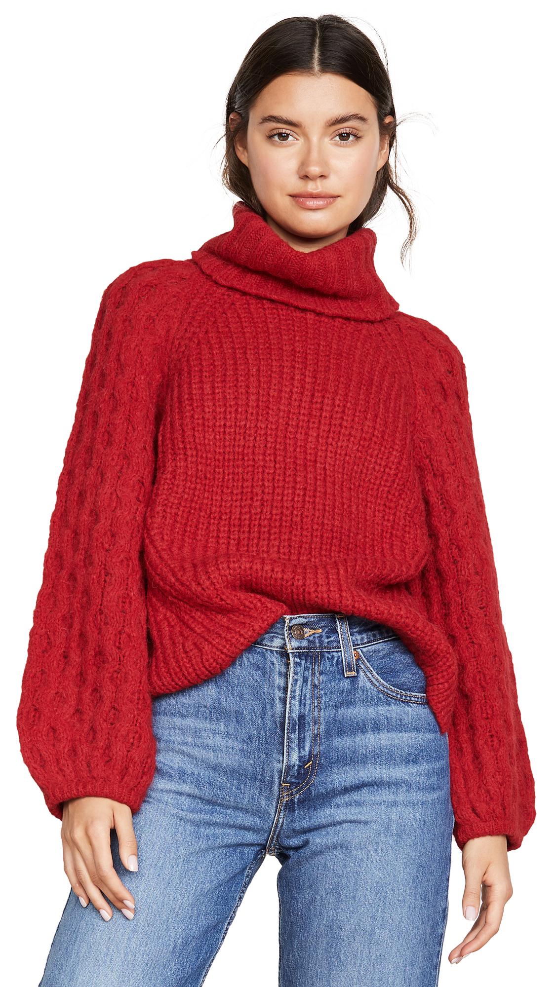 Eleven Six Nina Alpaca Sweater In Red