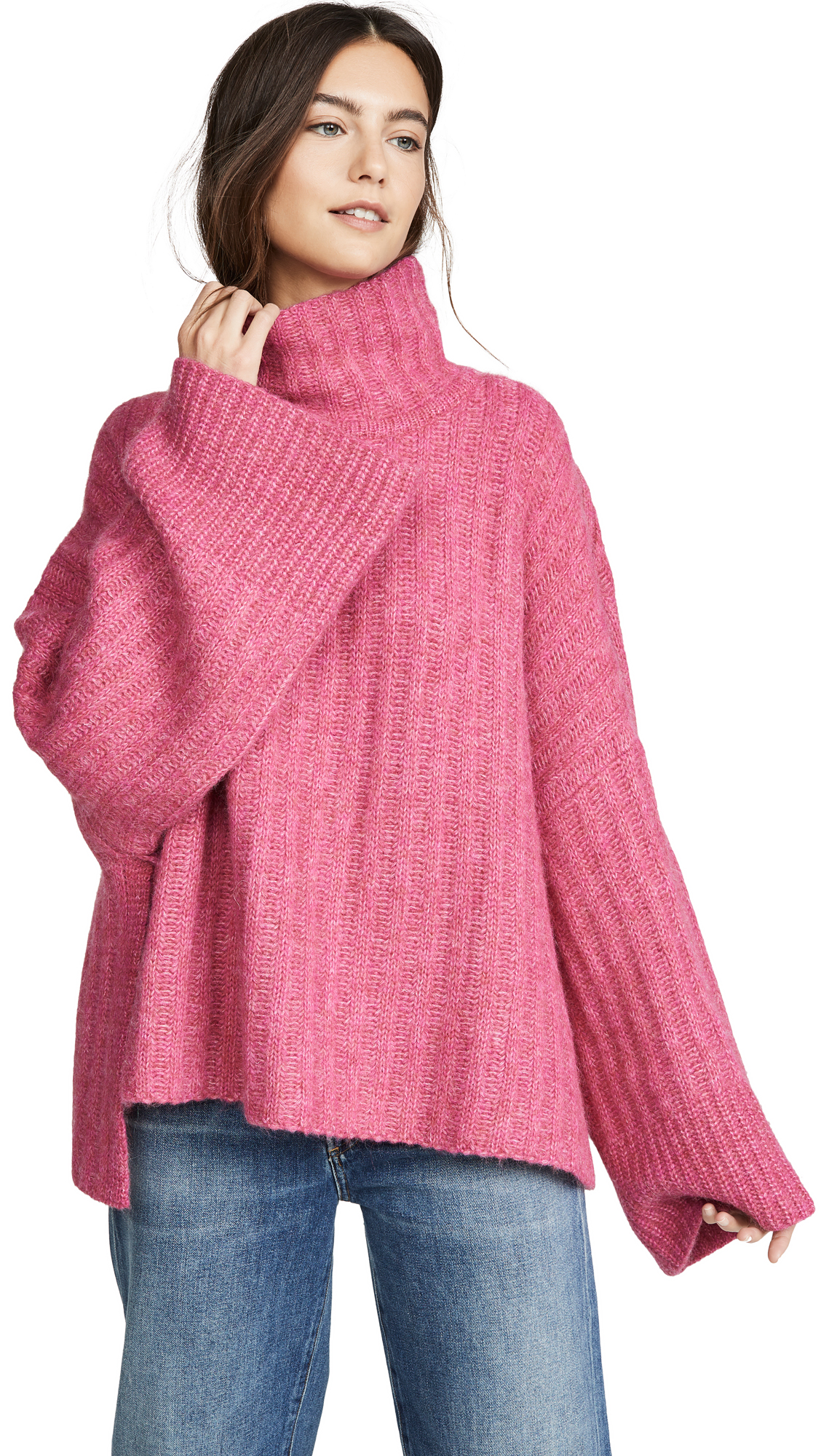 Buy Eleven Six online - photo of Eleven Six Talia Poncho Alpaca Sweater