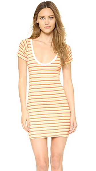Edith A. Miller Scoop Neck Mini Dress - Orange Sr