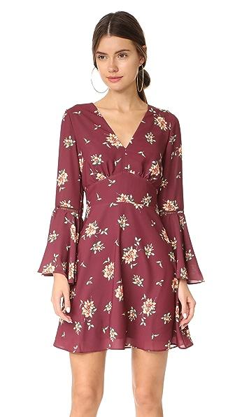 Ella Moon Bell Summer Dress - Burgundy Tossed Floral