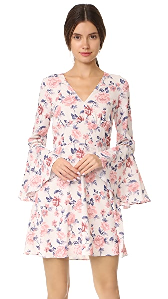 Ella Moon Bell Summer Dress In Cream Floral