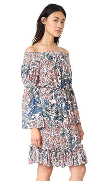 Ella Moon Ruched Off the Shoulder Dress