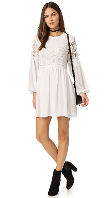 endless rose Woven Lace Combo Dress